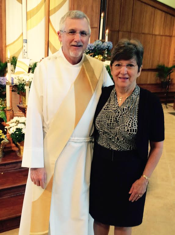 Deacon Randy and wife Carol, our sacristan.