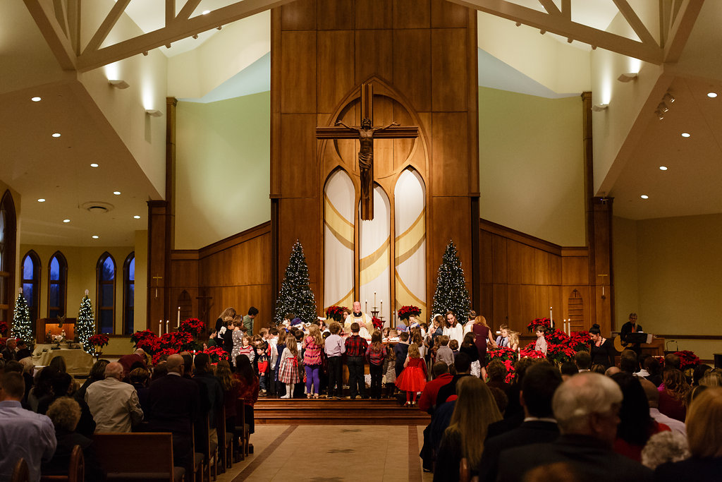 Children at the altar