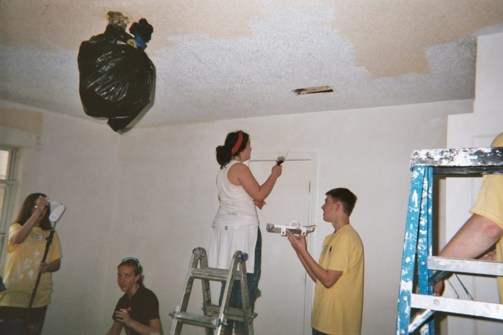 Youth Painting a room