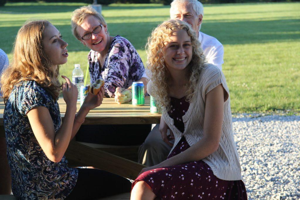 Family Smiling at Parish Picnic