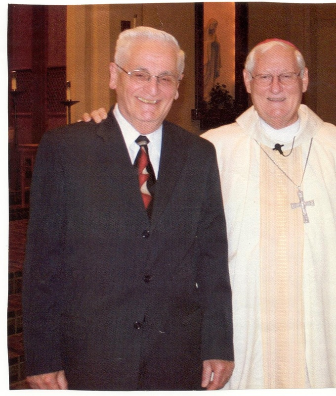 Deacon Romolo Leone with Bishop emeritus Carl Mengeling.
