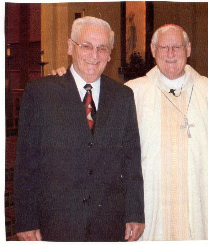 Deacon Romolo Leone with Bishop emeritus Carl Mengeling.