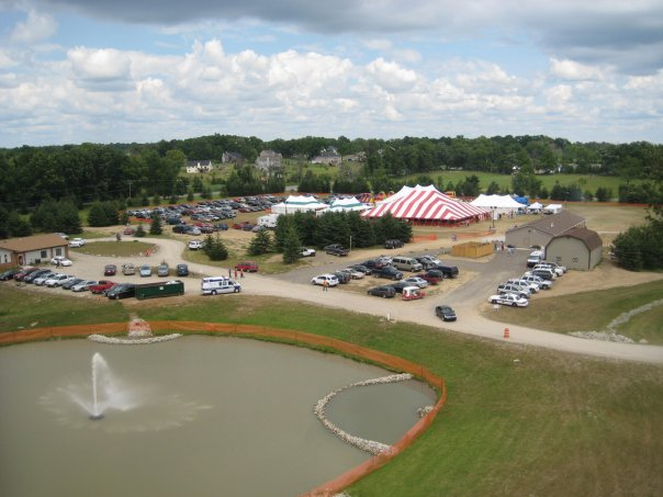 Festival from overhead