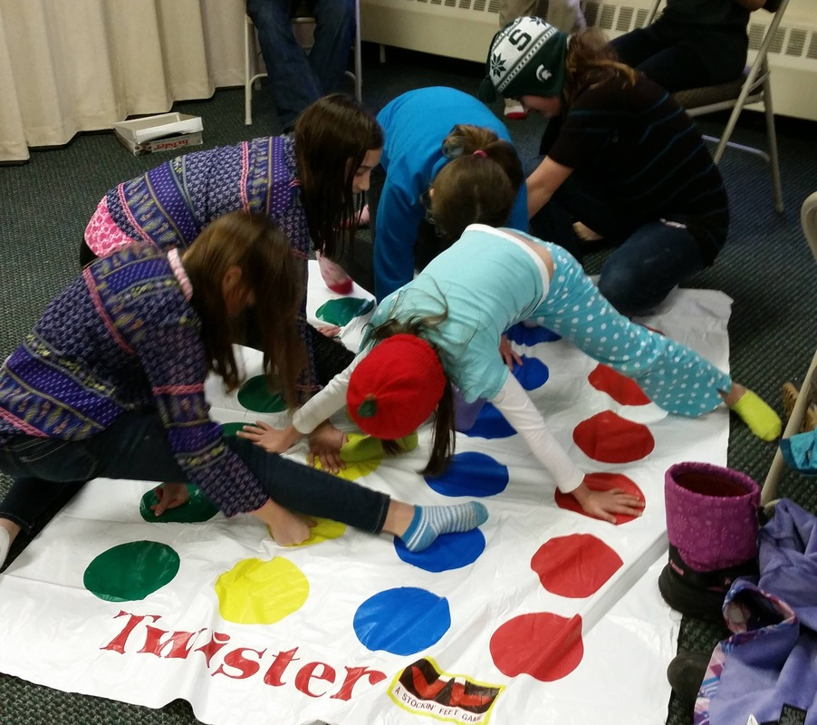 A game of Twister - fun for the young and limber!